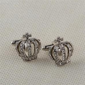 Fashion elegant ladies Crown Cufflinks(Silver)