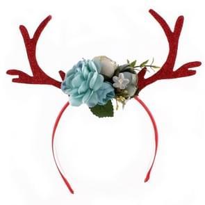 Christmas Antlers Ear Headband Christmas Decoration Accessories(Blue)