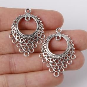6 stuks zink legering antiek zilver DIY metalen bedels Hangers