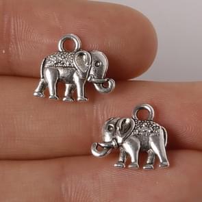 24 stuks zink legering antiek zilver olifant DIY bedels Hangers