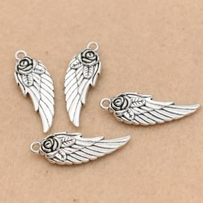 10 PCS Antique Silver Plated Angel Wings Charms Pendants for Jewelry Making Bracelet Accessories DIY Jewelry Findings