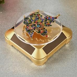 110*110*50mm Solar Showcase Automatic Rotating Stand 360 Turntable For Necklace Bracelet Watch Display
