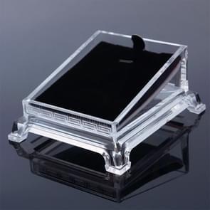 Transparante acryl sieraden armband horloge display plaat Toon houder lade rack
