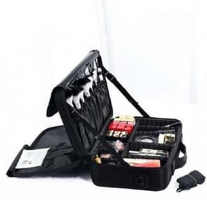 Make-up tas borduurwerk Manicure Draagbare Clapboard Toolbox  Grootte: Klein