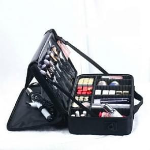 Make-up tas borduurwerk Manicure Draagbare Clapboard Toolbox  Grootte: Groot