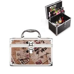 Cosmetica multifunctionele opslagbox technicus voet bad toolbox  grootte: klein (Beige briefpapier)