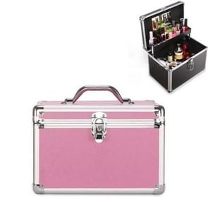 Cosmetica multifunctionele opslagbox technicus voet bad toolbox  grootte: groot (roze)