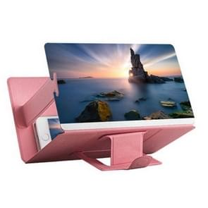 8 inch Universal Mobile Phone 3D Screen Amplifier HD Video Magnifying Glass Stand Bracket Holder(Pink)