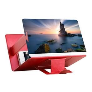 8 inch Universal Mobile Phone 3D Screen Amplifier HD Video Magnifying Glass Stand Bracket Holder(Red)