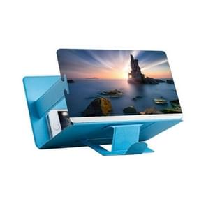 8 inch Universal Mobile Phone 3D Screen Amplifier HD Video Magnifying Glass Stand Bracket Holder(Blue)