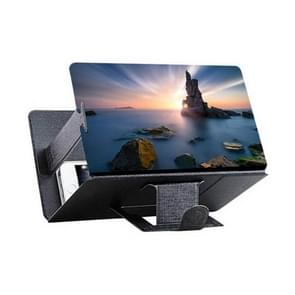 8 inch Universal Mobile Phone 3D Screen Amplifier HD Video Magnifying Glass Stand Bracket Holder(Black)