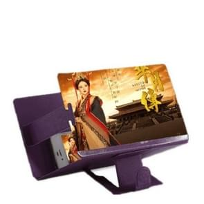 8 inch Universal Mobile Phone 3D Screen Amplifier HD Video Magnifying Glass Stand Bracket Holder(Purple)