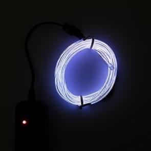 Flexibele LED licht EL Wire string strip touw Glow decor Neon Lamp USB controlle 3M energiebesparende masker glazen gloed lijn F277 (wit licht)