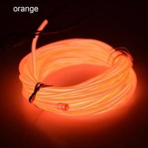 Flexibele LED licht EL Wire string strip touw Glow decor Neon Lamp USB controlle 3M energiebesparende masker glazen gloed lijn F277 (oranje licht)