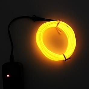 Flexibele LED licht EL Wire string strip touw Glow decor Neon Lamp USB controlle 3M energiebesparende masker glazen gloed lijn F277 (geel licht)