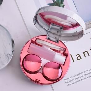 Marmering plating kleur contact lens geval glazen doos (Rose rood)