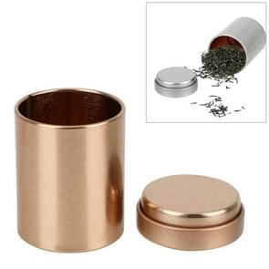 Mini Kitchen Accessories Alloy KungFu tea Sealed Cans(Rose gold)
