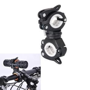 360 lamphouder fiets zaklamp lamp clip bevestiging beugel (zwart)