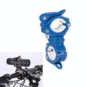 360 lamphouder fiets zaklamp lamp clip bevestiging beugel (blauw)