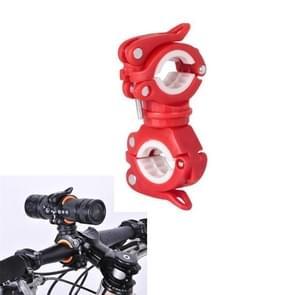 360 lamphouder fiets zaklamp lamp clip bevestiging beugel (rood)