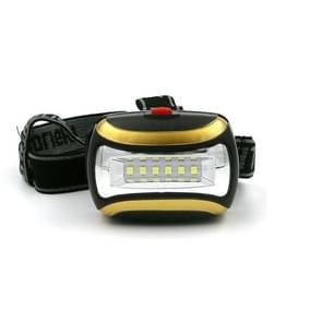 2 stks outdoor waterdichte nacht rit alpinisme Camping schittering derde versnelling LED kunststof koplamp (geel)