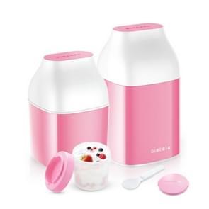 Handmatige yoghurtmachine huishoudelijke automatische Cup Divider kaas machine, geen stroomvoorziening (roze)