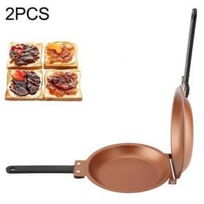 2 PCS Double Side Non-stick Frying Pan Kitchen Cookware