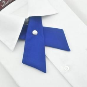 Solid cross strikje College Wind Bow tie voor jongens en meisjes (Royal Blue)