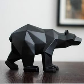 Geometric Resin Craft Ornament Accessories Furnishing Bear Statues