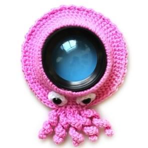 Hand-gebreide wol camera lens dierdecoratie Ring Baby Baby Guide Props (Roze Octopus)