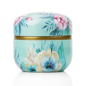 HOOMIN Tea Box Tea Jar Storage Holder Tea Caddies Matcha Container Mini Coffee Powder Organizer Cans Multifunction Round Metal, Color:At a glance