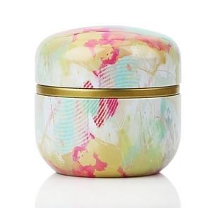 HOOMIN Tea Box Tea Jar Storage Holder Tea Caddies Matcha Container Mini Coffee Powder Organizer Cans Multifunction Round Metal, Color:Colorful clouds