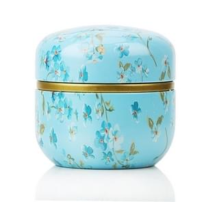 HOOMIN Tea Box Tea Jar Storage Holder Tea Caddies Matcha Container Mini Coffee Powder Organizer Cans Multifunction Round Metal, Color:Shallow wind