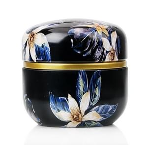 HOOMIN Tea Box Tea Jar Storage Holder Tea Caddies Matcha Container Mini Coffee Powder Organizer Cans Multifunction Round Metal, Color:Moshan blossom