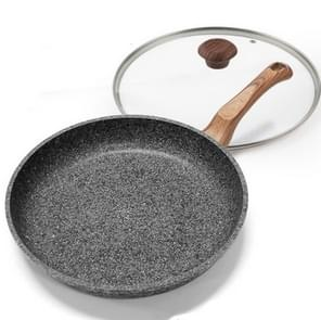Dikke Maifan Stone Wok huishoudelijke koken pannen multifunctioneel geschikt voor inductie kookplaat gasfornuis, grootte: 28cm grijs koekenpan met deksel