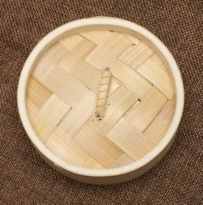 Xiaolongbao Bamboo Steamer Household Steamed Dumpling Cage Drawer Multi Layer Deepened Bamboo Steaming Rack, Size:10cm Cover