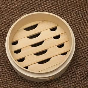 Xiaolongbao Bamboo Steamer Household Steamed Dumpling Cage Drawer Multi Layer Deepened Bamboo Steaming Rack, Size:10cm Cage