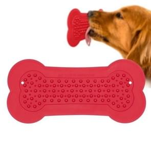 Dog Bathroom Shower Stickers Silicone Bone Stickers for Small Medium Large Pet Cat Dog Training Bathing Stickers(Red)