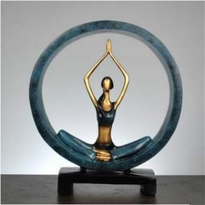 Modern Abstract Art Resin Yoga Pose Statue Yoga Studio Decorations(Worship)