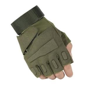 Outdoor sport Antiskid halve vinger handschoenen rijden beschermende handschoenen (kaki)