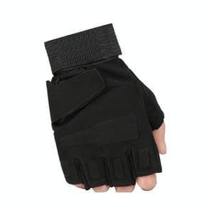 Outdoor sport Antiskid halve vinger handschoenen paardrijden beschermende handschoenen (groen)
