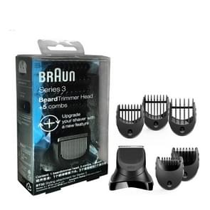 Braun Series 3 Electric Shaver Beard Trimmer Head with 5 Combs Shaver Head Razor Blade Replacement
