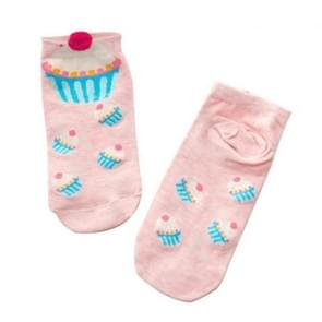 10 Pairs Cartoon Socks Lovely Sweet Cupcake Socks for Girls, Size:One Size(Pink)