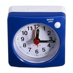 Travel Small Alarm Clock Bedside Mute Alarm Clock with Light & Snooze Function(Blue)