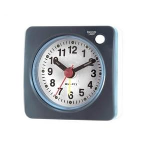 Travel Small Alarm Clock Bedside Mute Alarm Clock with Light & Snooze Function(Grey)