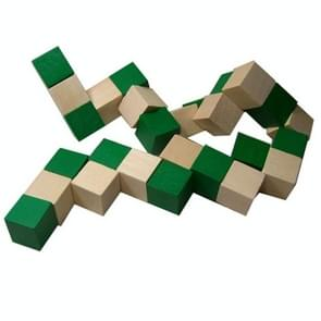 2 PCS Wooden Variety Decompression Magic Snake Ruler Children Educational Toys