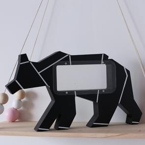 Nordic Home Decoration Wooden Polar Bear Pattern Money Boxes(Black)