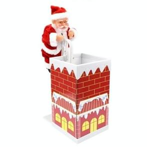 Climbing Wall Climbing Chimney Santa Doll with Music Electric Toy Christmas Gifts