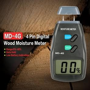 MD-4G 4 Pins Wood Moisture Meter Digital LCD Soil Grain Moisture Meters