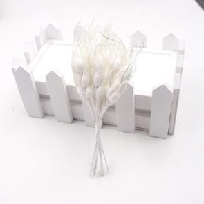 Artificial Flower Mini Foam Autumn Wheat  Bouquet for Wedding Decoration Wreath Fake Flowers(White)
